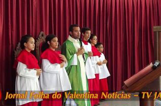 Padre Marcelo Monte, realizou missa neste domingo, 19, na Paróquia N. Senhora da Conceição Aparecida
