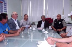 AACV – Associação Amigos e Comerciantes do Valentina, reunião com o Secretário de Segurança e Defesa social Cláudio Lima e Ten. Coronel Valério