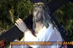 Procissão do Encontro da Virgem Maria com Seu Filho Divino, carregando a cruz no caminho do Calvário